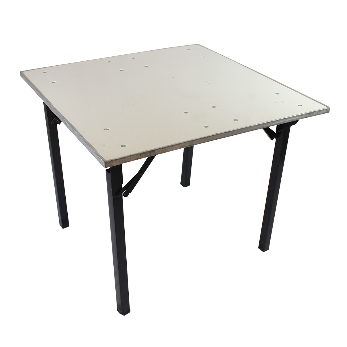 "Table 36""x36"" White Formica Topped"