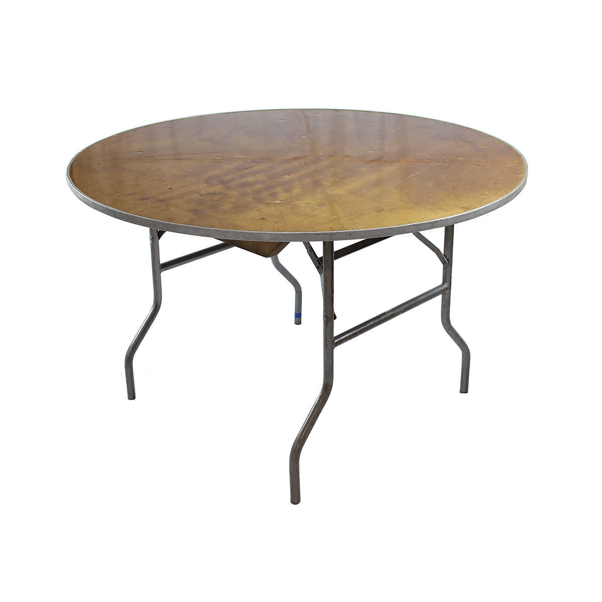 "Table 54"" Round Wood Topped"