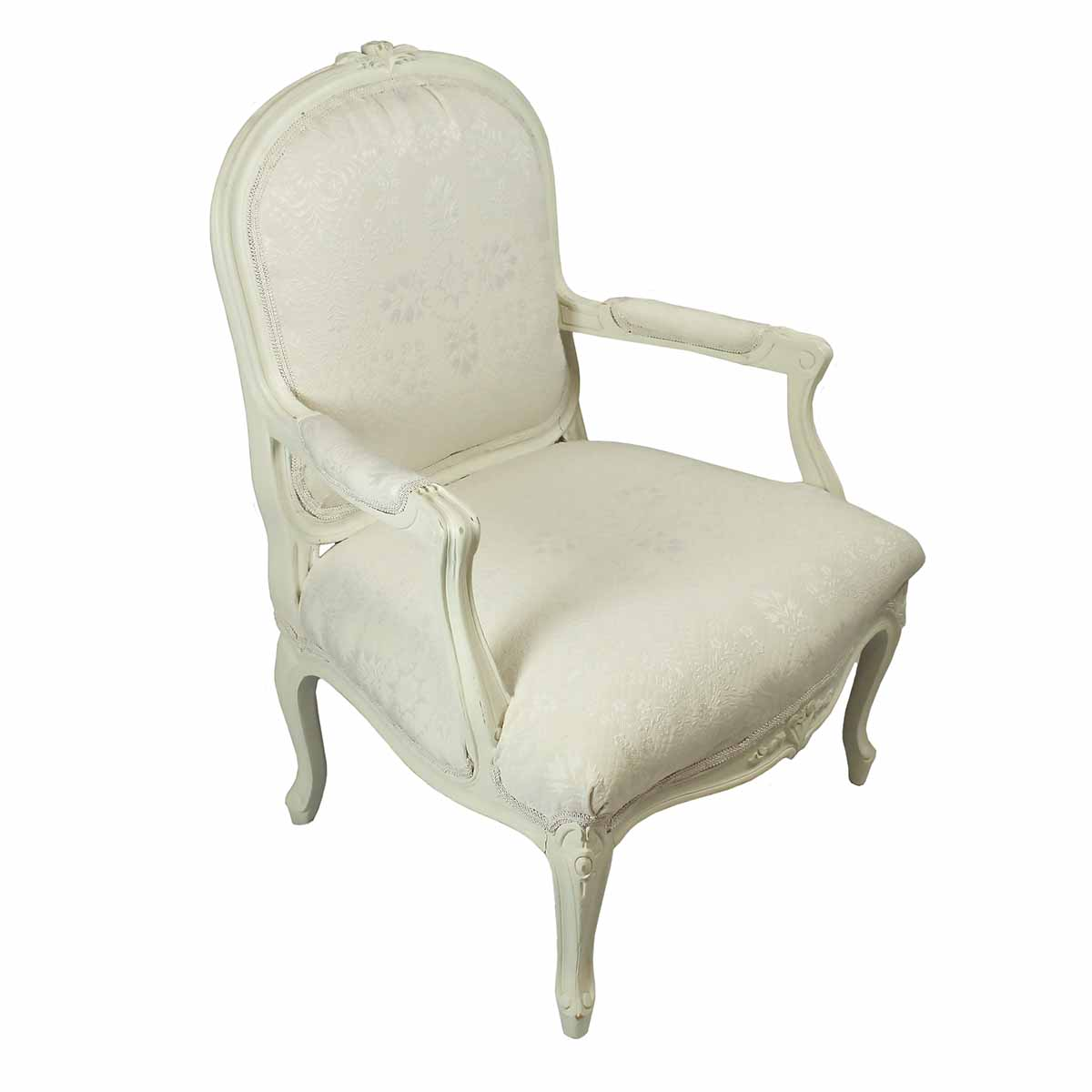 Antique White Throne Chair