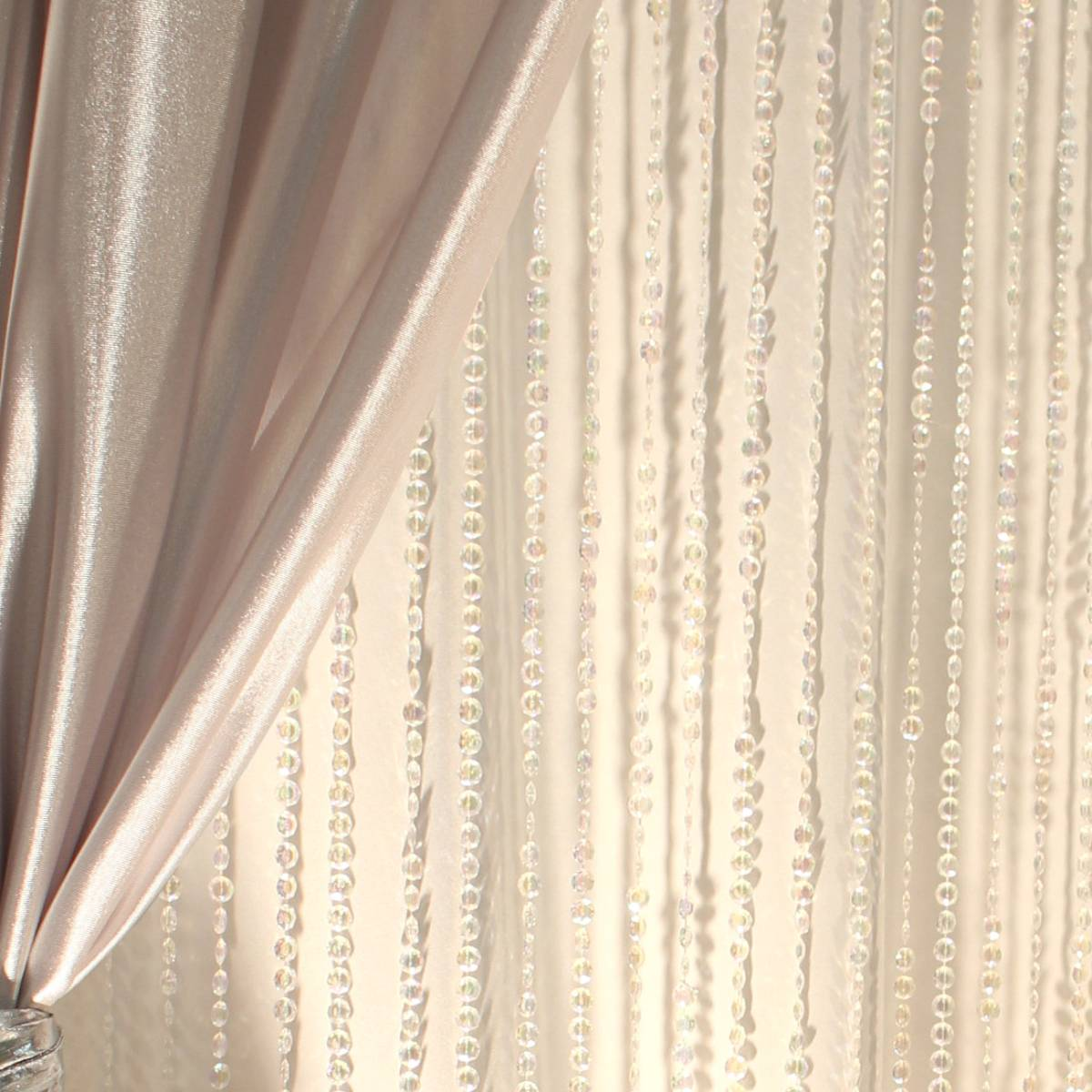 Beaded Curtain Jewel Crystal Iridescent 9FT