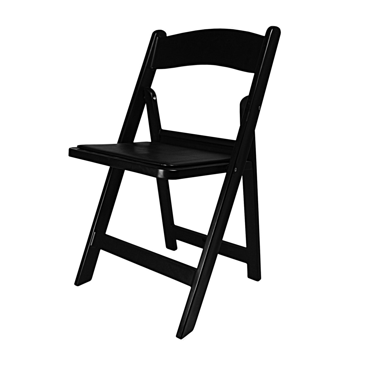 Chair Black Garden With Padded Seat