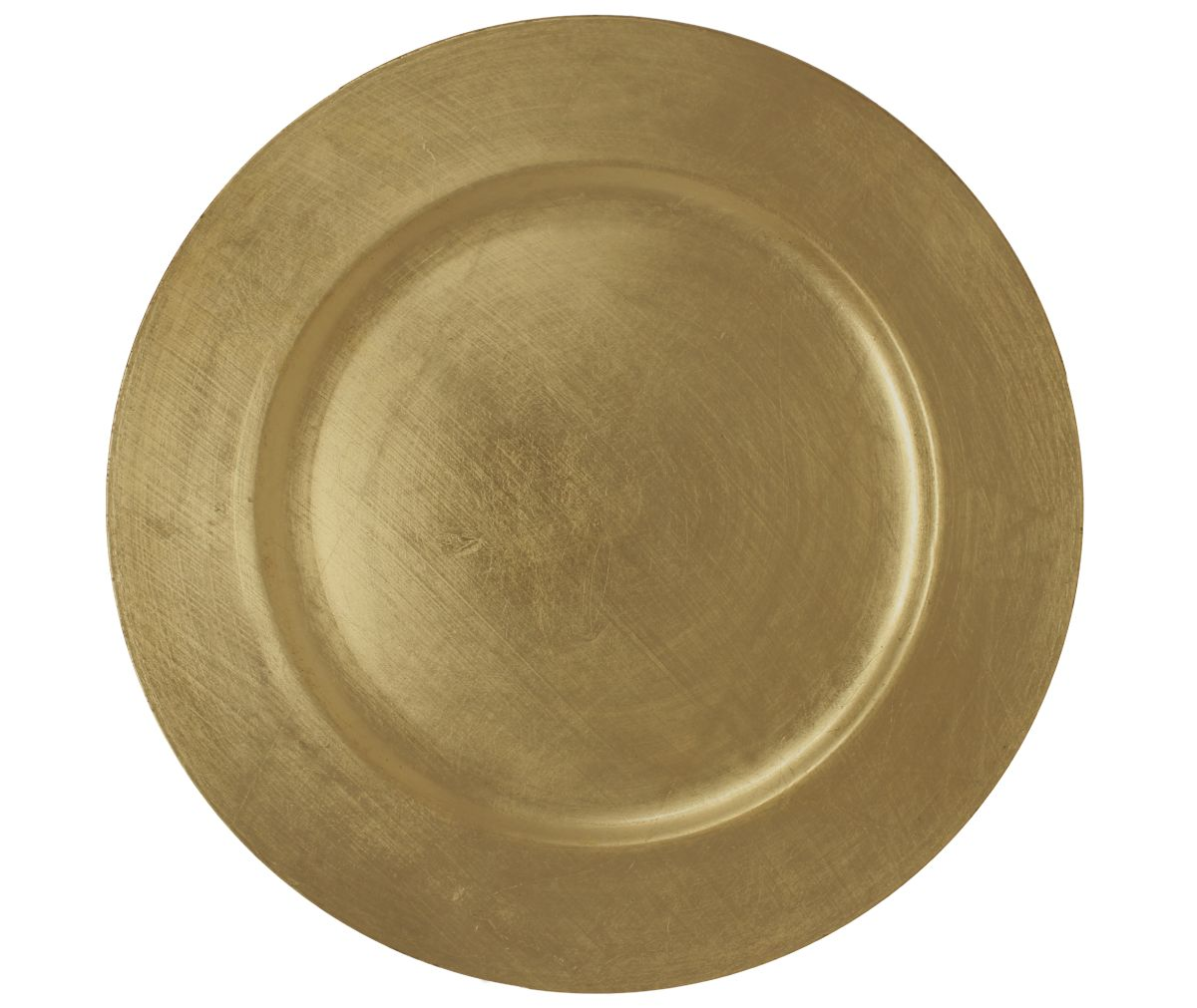 Charger Brushed Gold Round 13