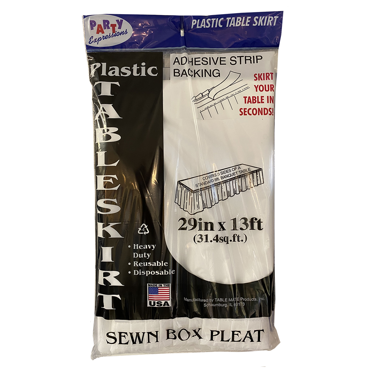 Skirting White Plastic 13'L X 29