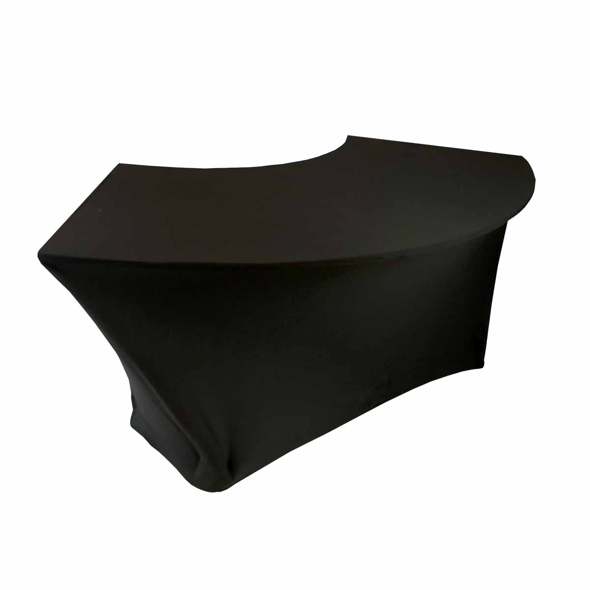 Serpentine Tablecover Spandex Black