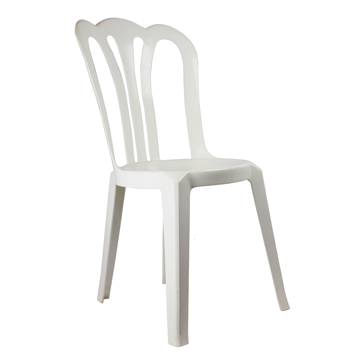 Chair Cafe White Stackable