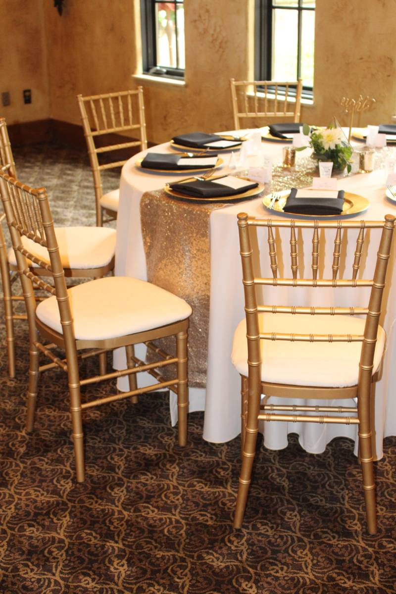 Gold Chiavari Wood Chair With Pad