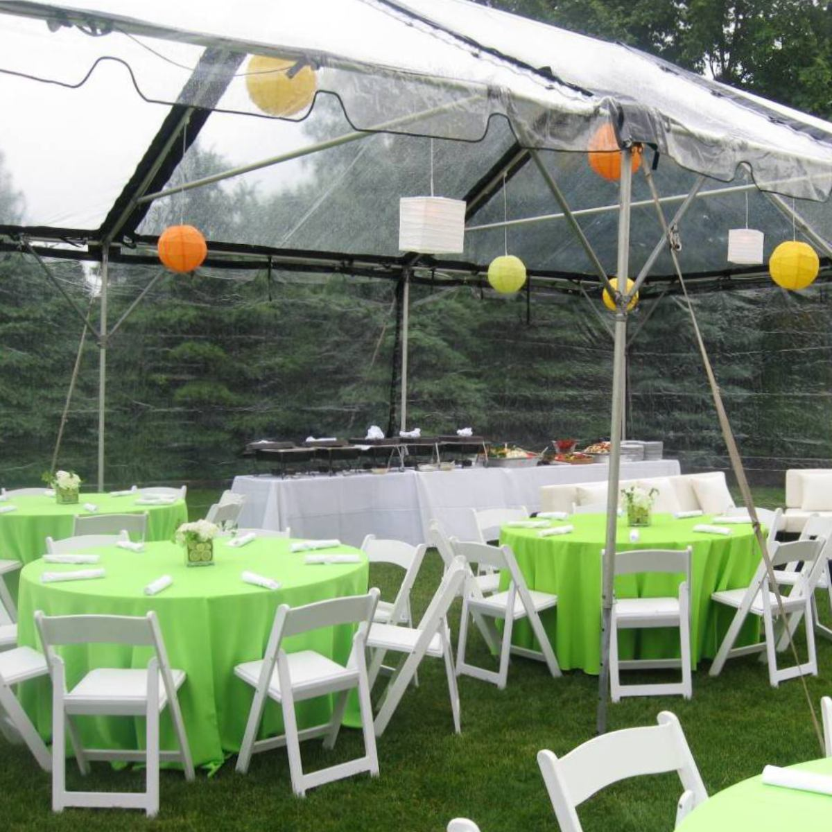 Clear With Black Trim Frame Tents