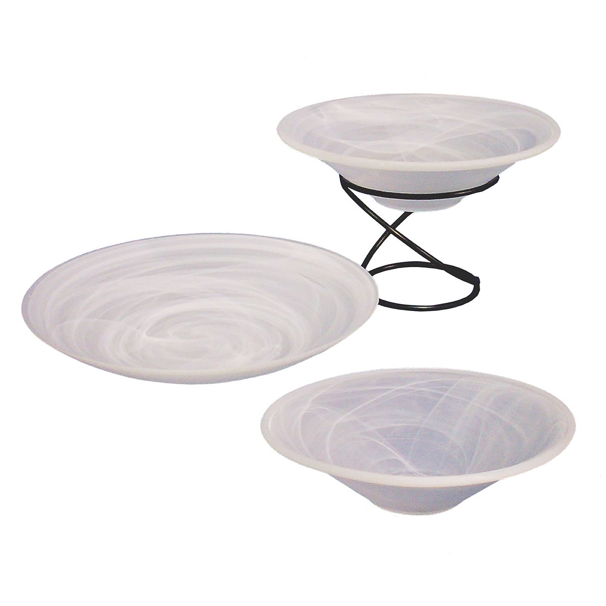 Marble Bowls (Optional Wrought Iron Stand)