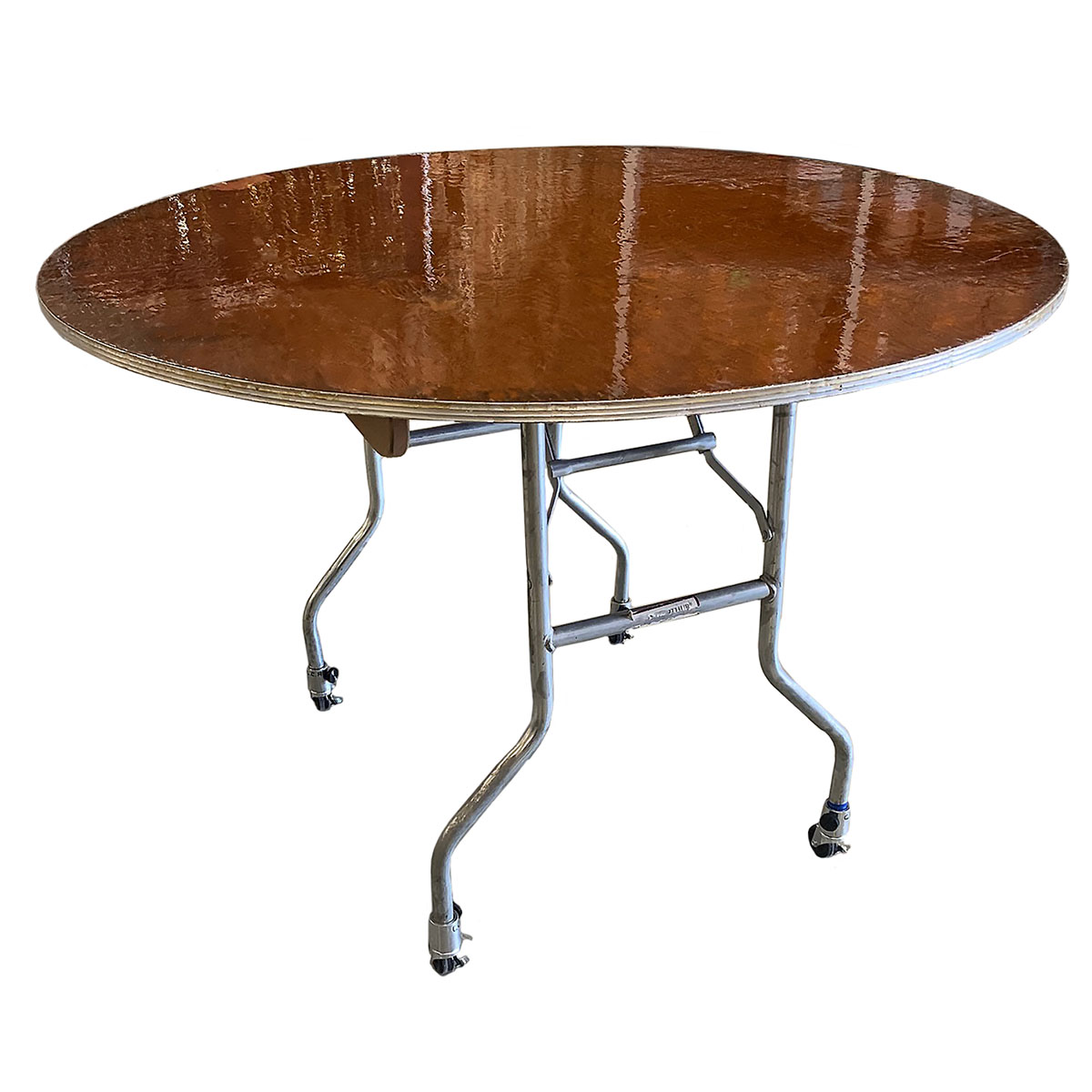 "48"" Round Table With Locking Wheels"