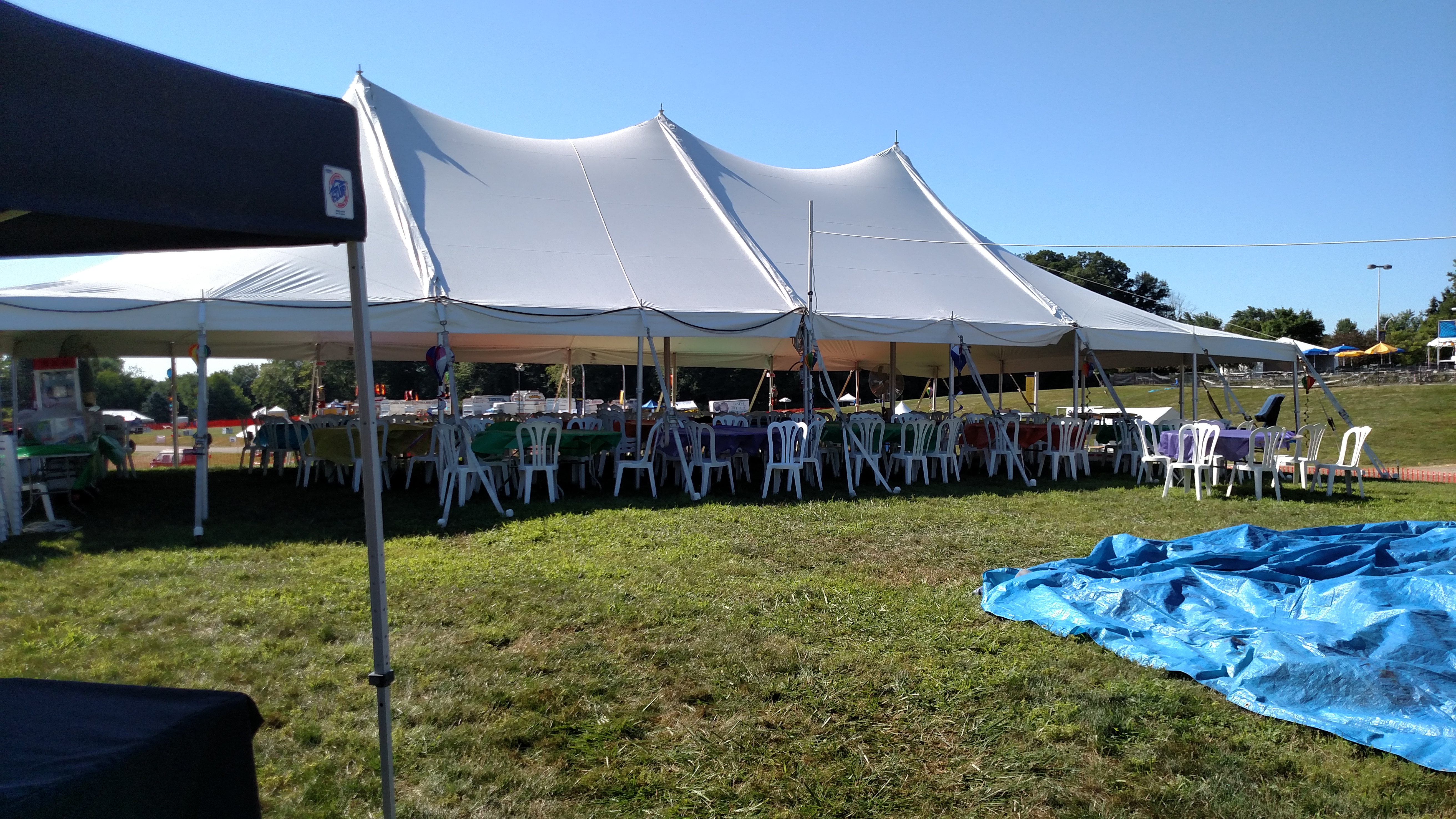 30x60 Pole Tent With Cafe Chairs